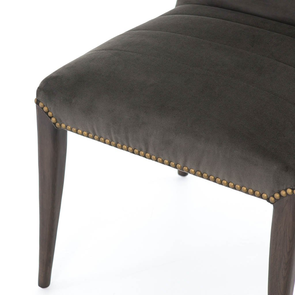 deep brown velvet chair