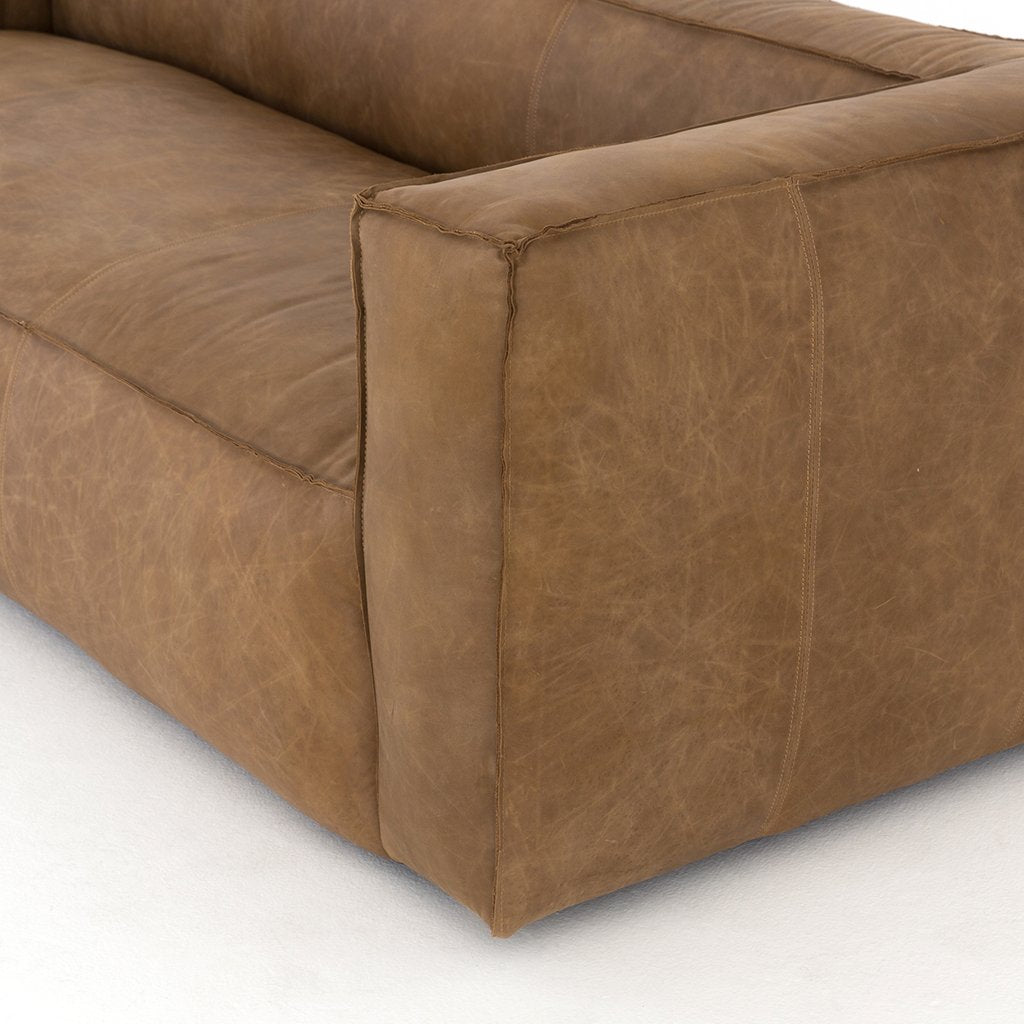 Nolita Tan Leather Sofa