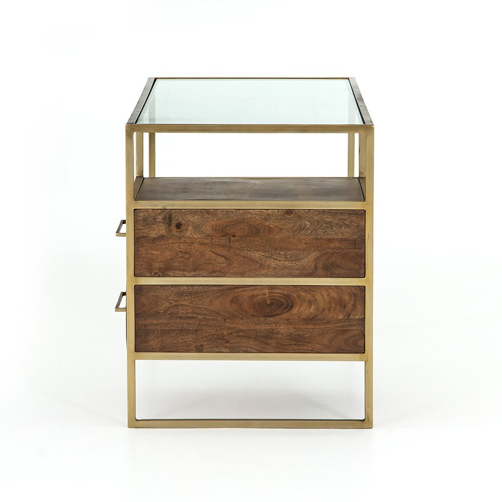 Riverside Desk - Aged Brass Four Hands Furniture
