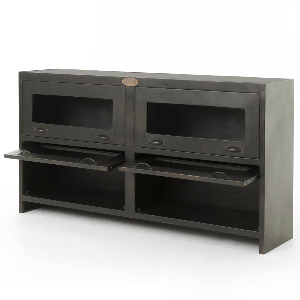 Custom Iron Furniture, Rockwell Media Cabinet