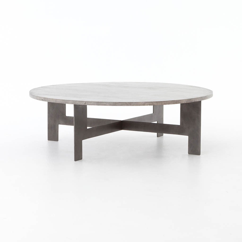 Round Coffee Table With Iron ISD-0173