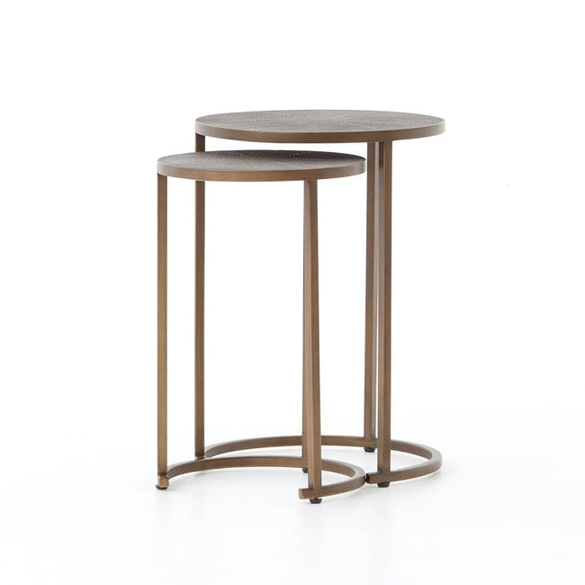 Shagreen Nesting Side Table Four Hands