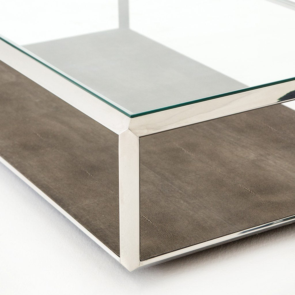 Stainless Glass top coffee table