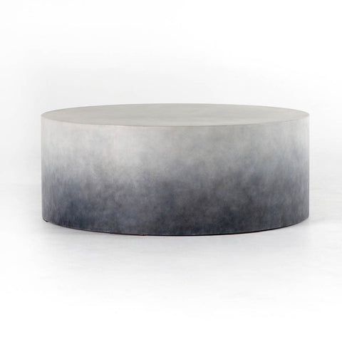 Contemporary Concrete Chrome Coffee Table By Four Hands Furniture - Concrete and chrome coffee table