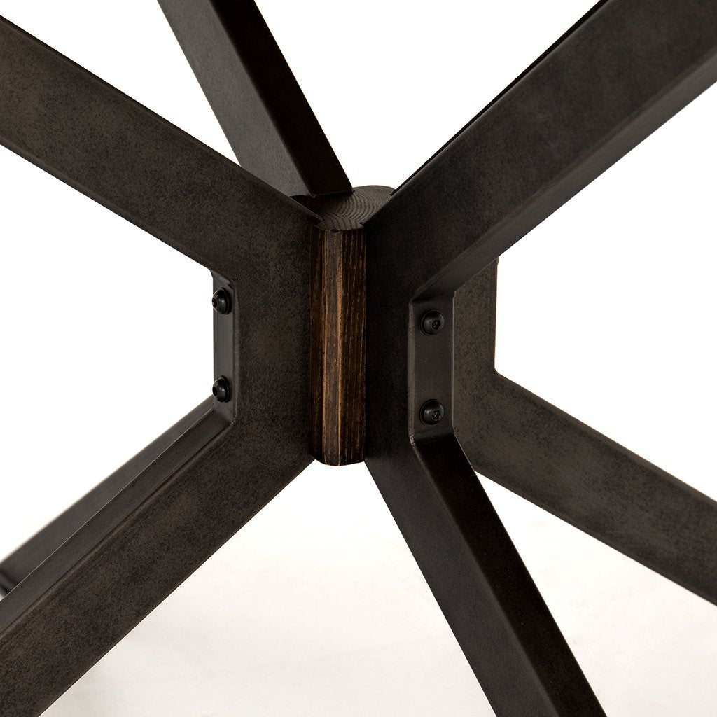 Spider Dining Table - English Brown Oak CIMP-168A