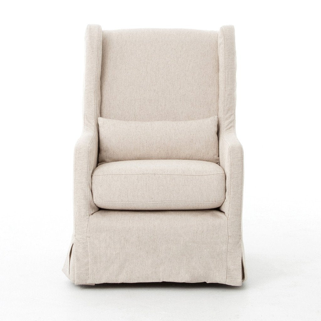 Swivel Wing Chair - Jette Linen Front Detail