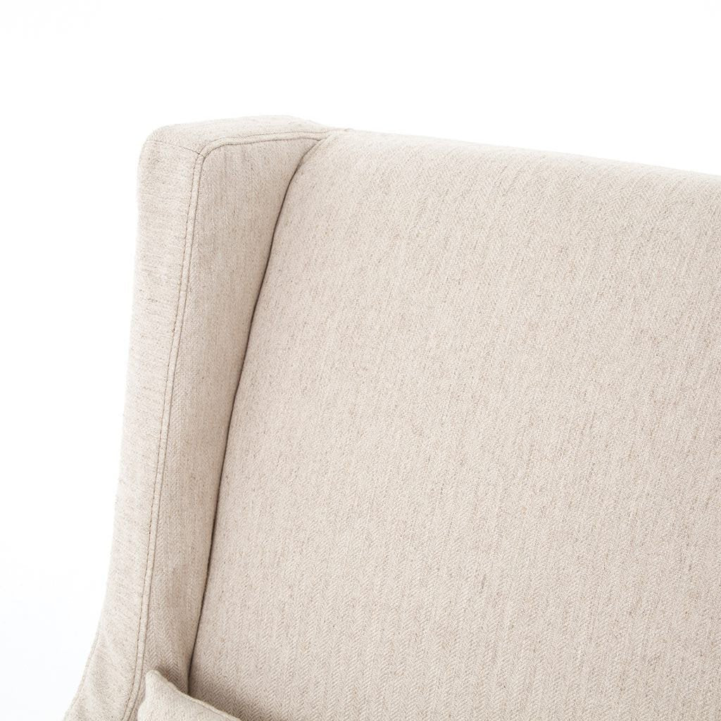 Swivel Wing Chair - Jette Linen Back Detail