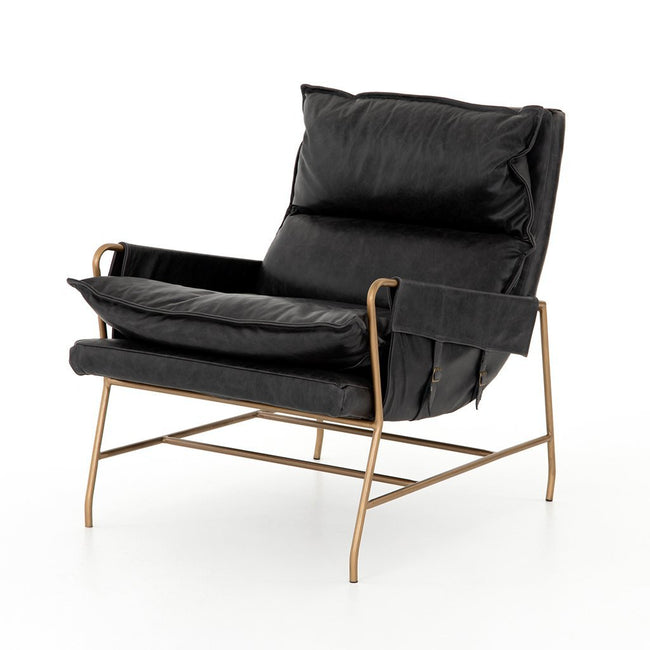 Taryn Sonoma Black Lounge Chair Four Hands CKEN-28681-679
