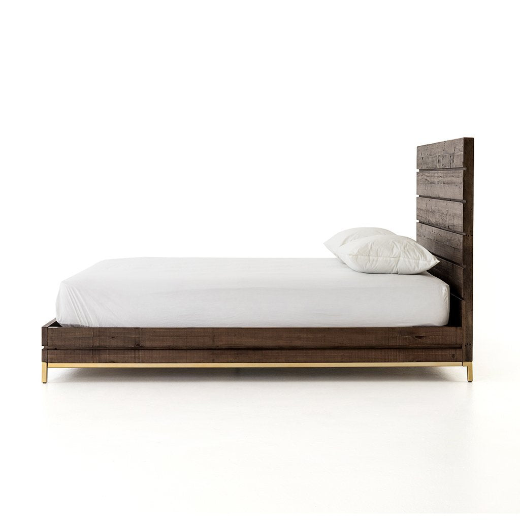 Contemporary rustic bed