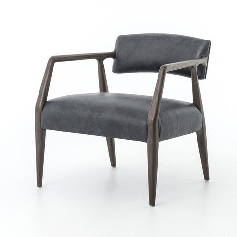 Lillian Occasional Chair - Grey Velvet