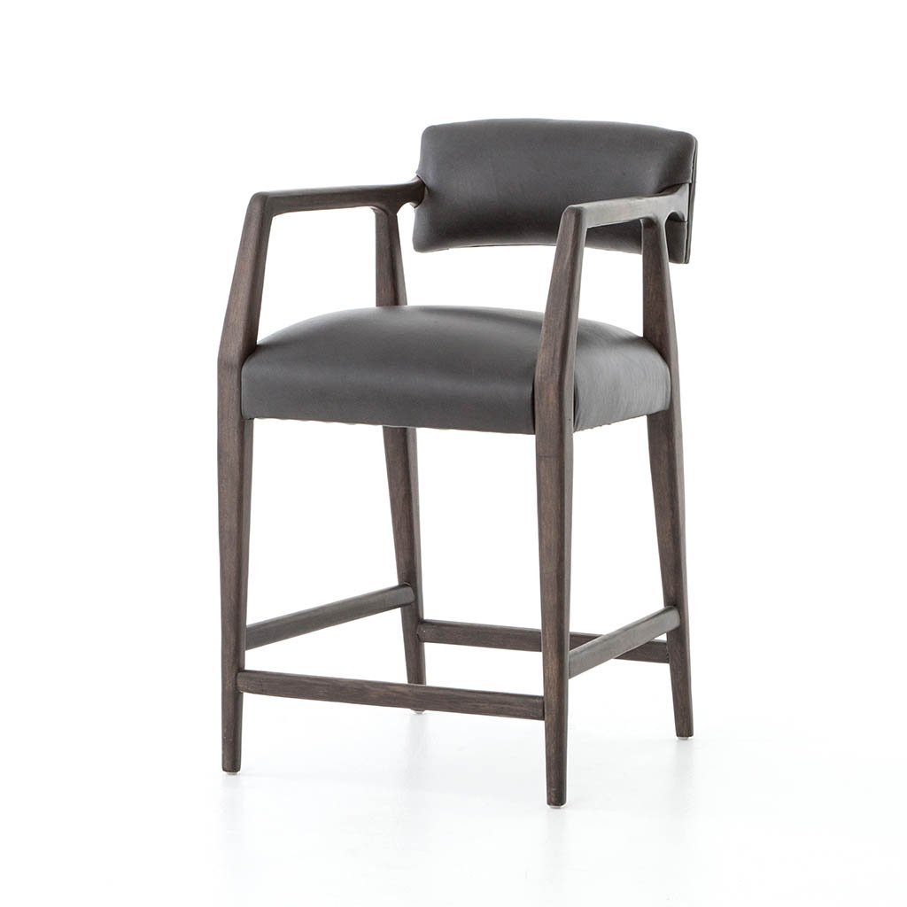 Tyler Stool by Four Hands Furniture Chaps Ebony