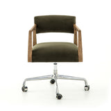 Tyler Desk Chair Modern Velvet Loden Four Hands CABT-76-248