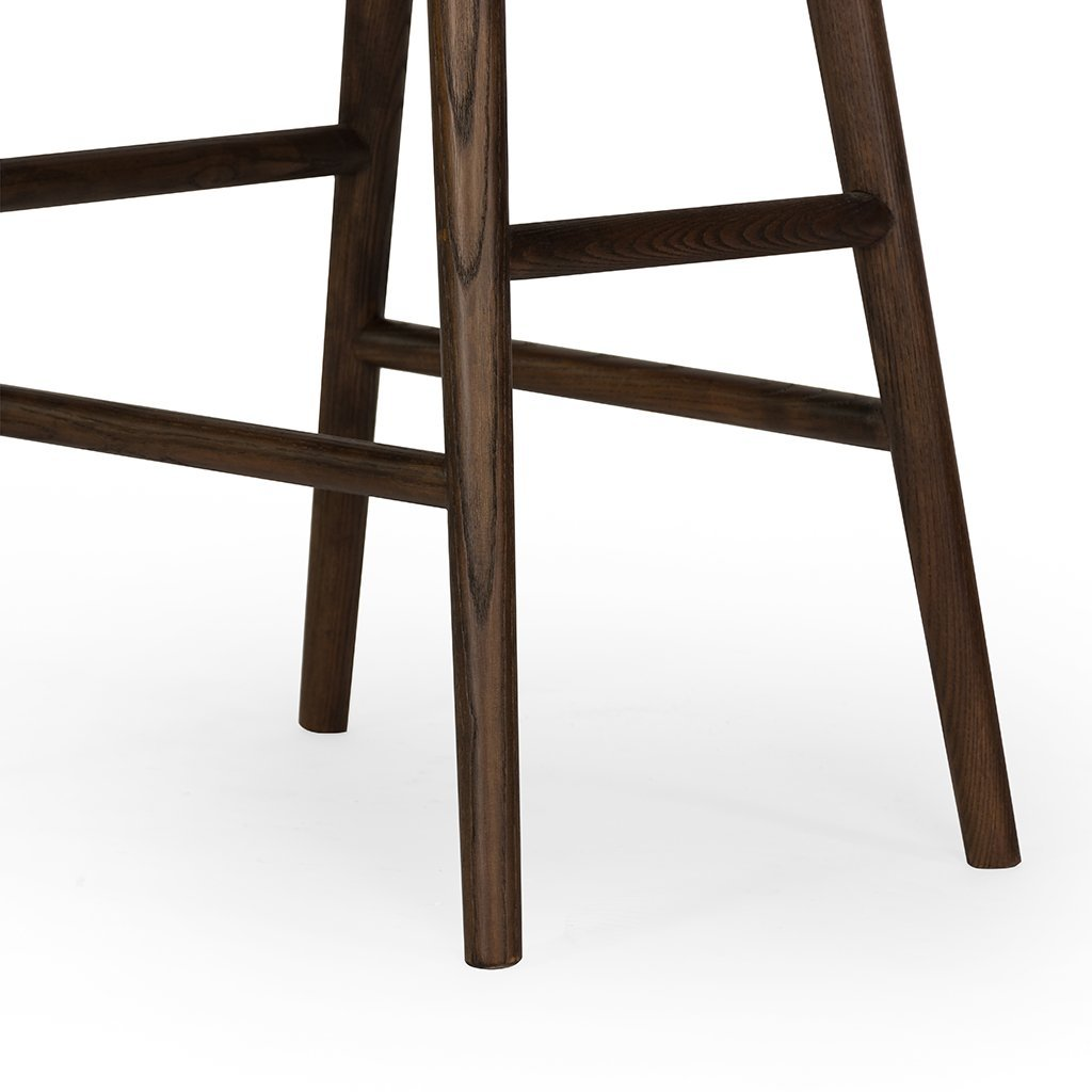 Modern Union Barstool - Distressed Black by Four Hands Furniture