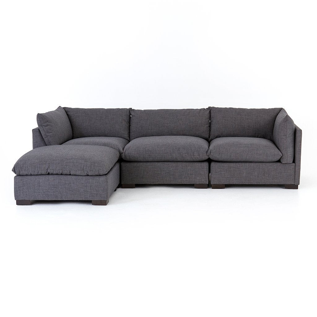Westwood Sectional Sofa and Ottoman - Bennett Charcoal