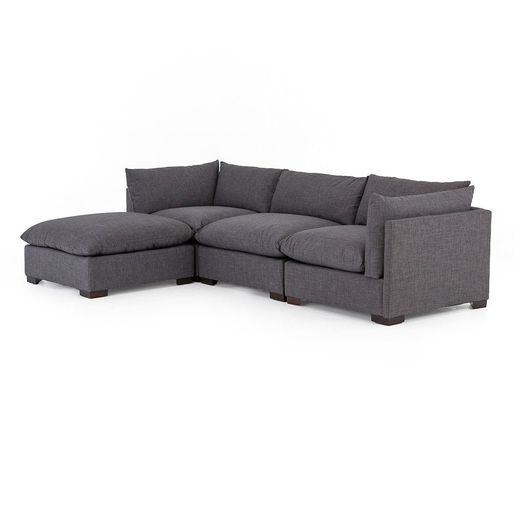 Westwood Sectional Sofa and Ottoman - Bennett Charcoal Four Hands