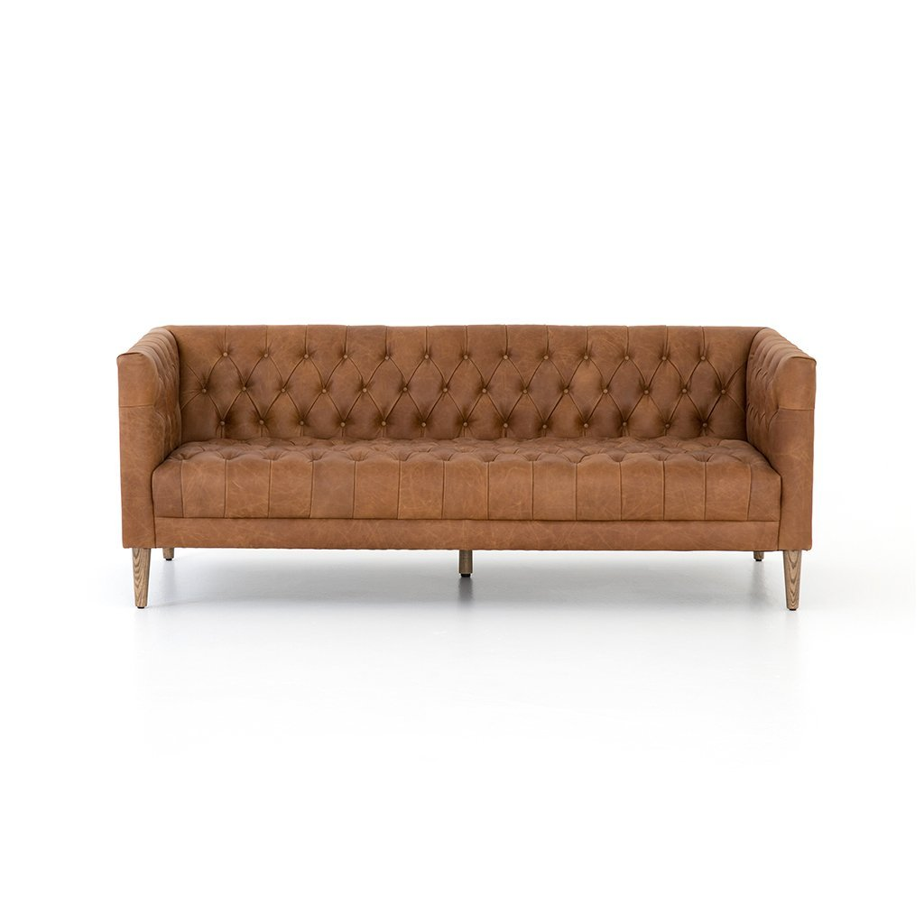Williams Tufted Leather Sofa Four Hands Furniture CCAR-109W-299