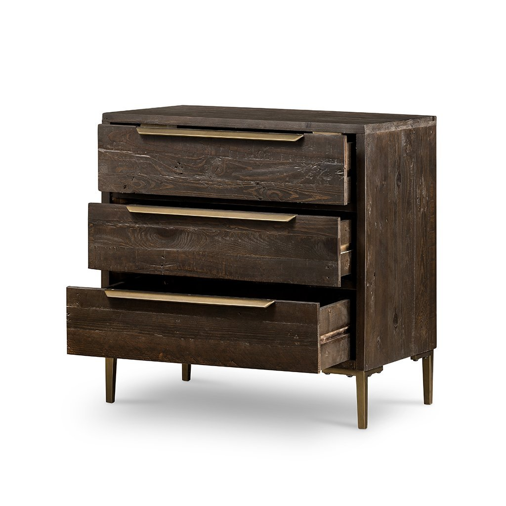 Wyeth 3 Drawer Small Dresser VWYT-003B Drawers Open