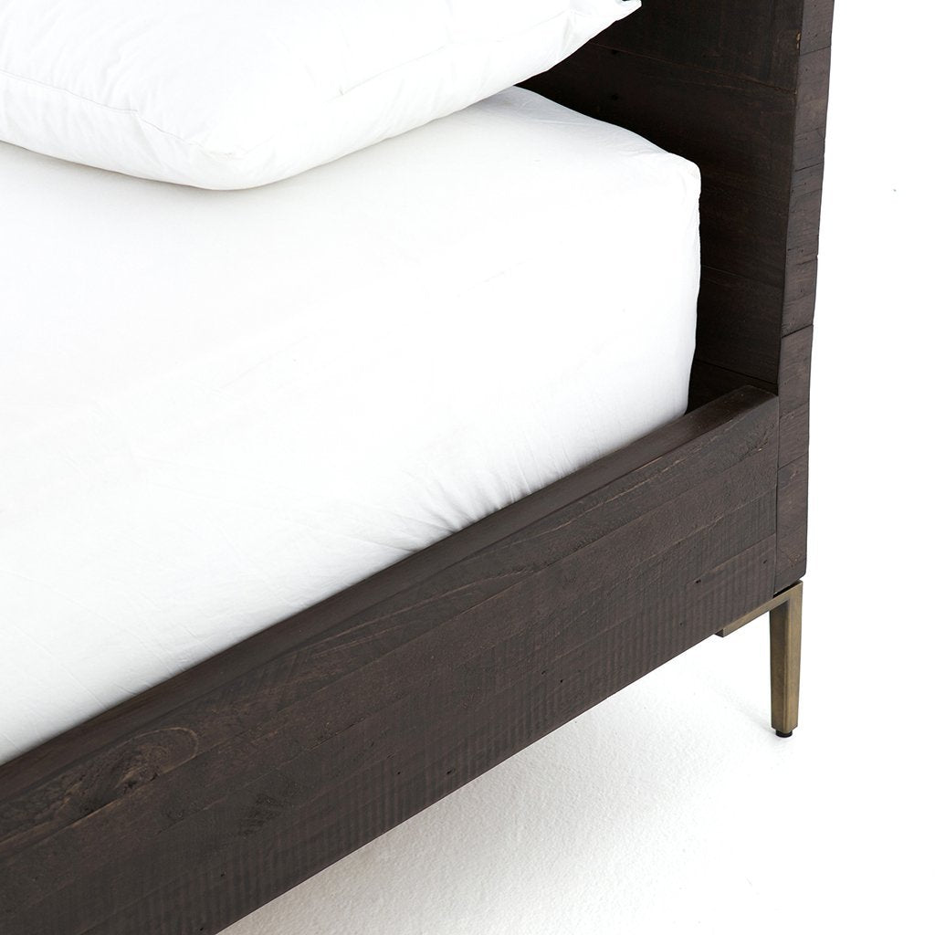 dark wood modern bed wyeth