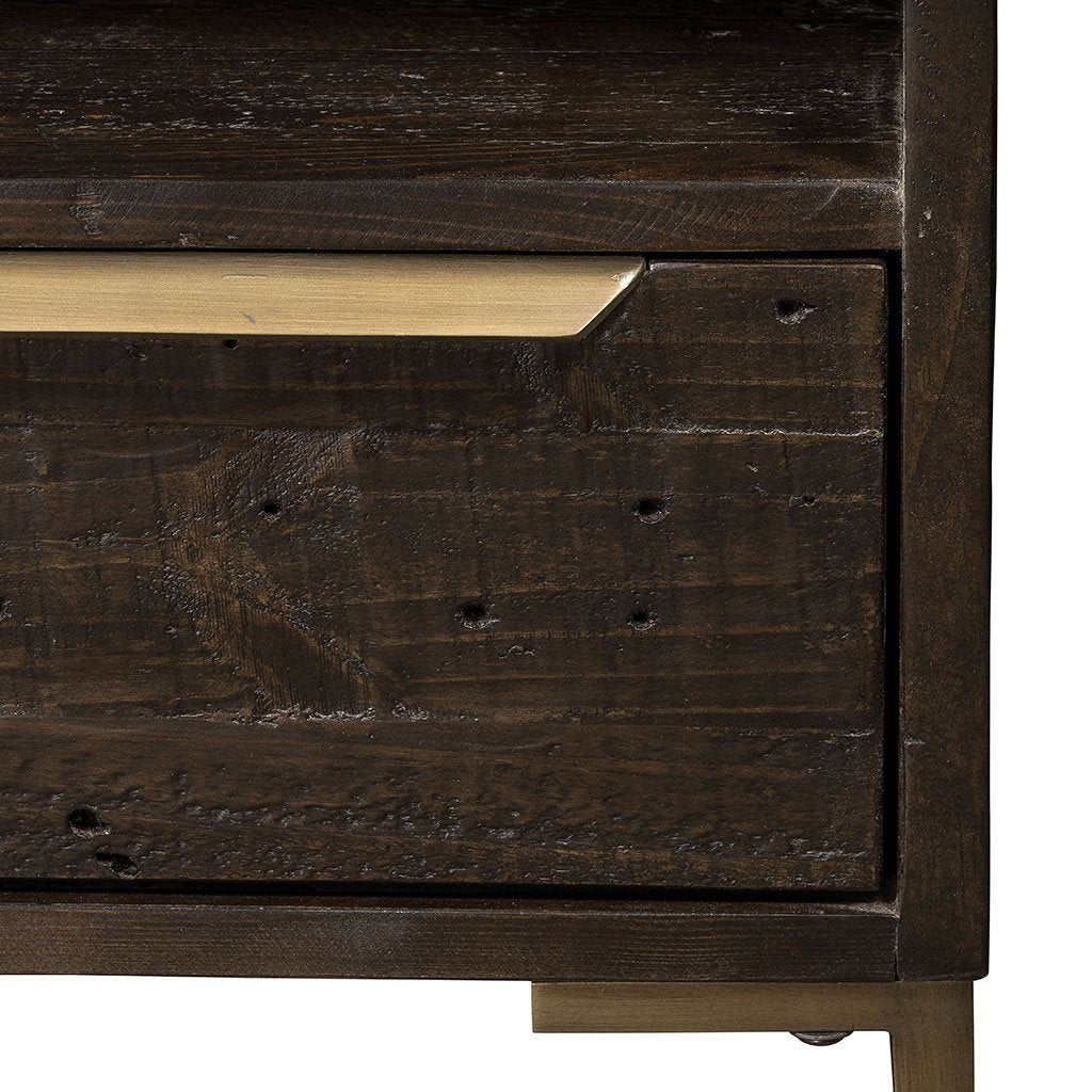 Wyeth Nightstand VWYT-001B Four Hands hardware detail