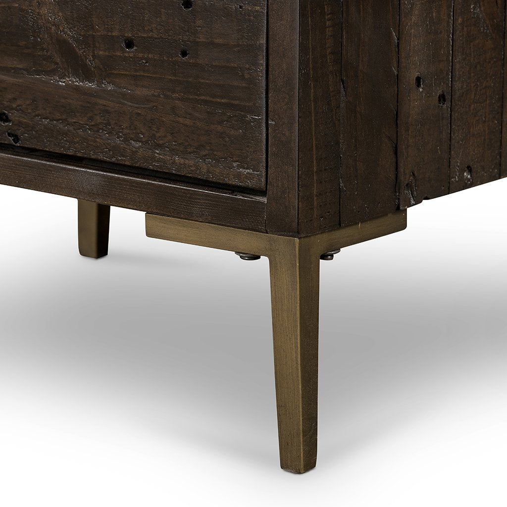 dark rustic bedside table
