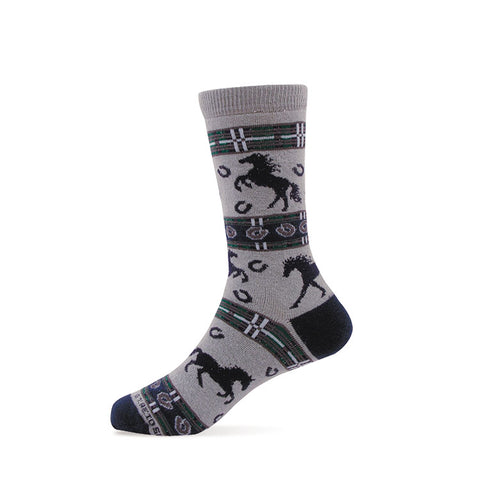 Gray Blue Youth Horse Socks Made in USA