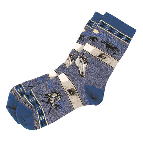Adult Socks -My Horses Eye Blue and Gray