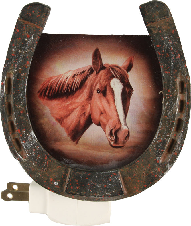 Horse Horseshoe Night Light w/ Sensor