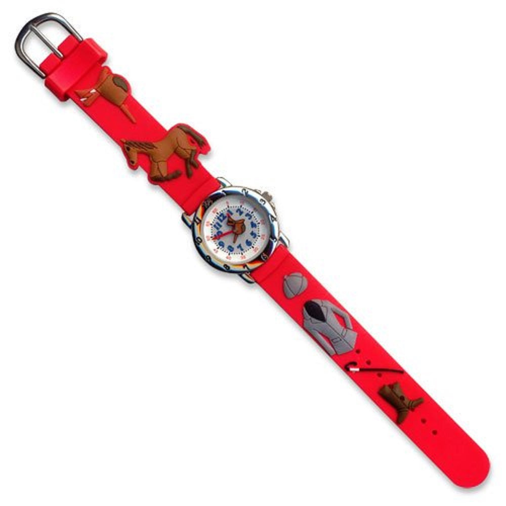 Red English Riding Equestrian Youth Watch