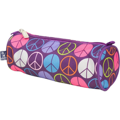 Wildkin Purple Peace Signs School Pencil Case