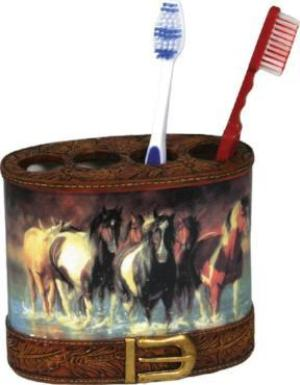 Rush Hour Galloping Horses Toothbrush Holder