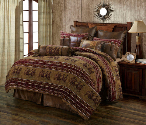 Running Horses Queen Size Bedding Set