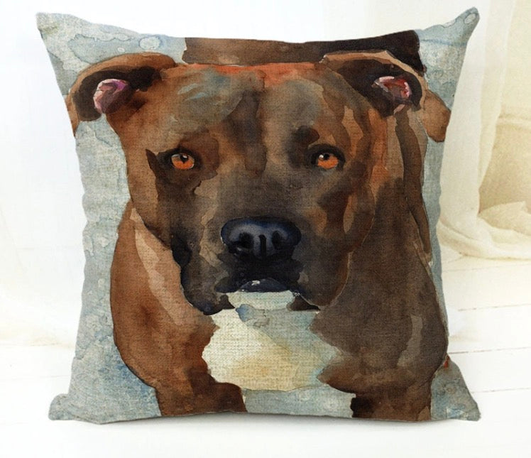 "Pitbull Staffordshire Terrier 18"" Pillow Cover"