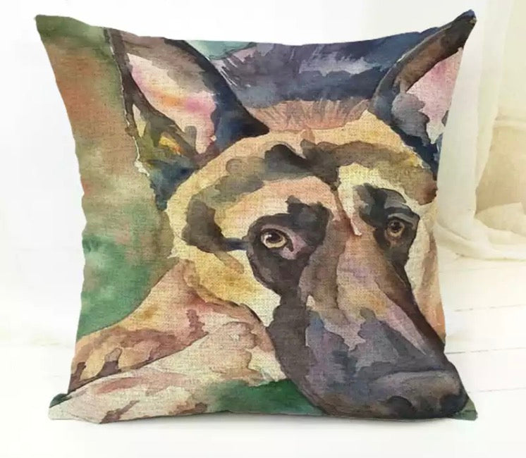 "German Shepherd 18"" Pillow Cover"