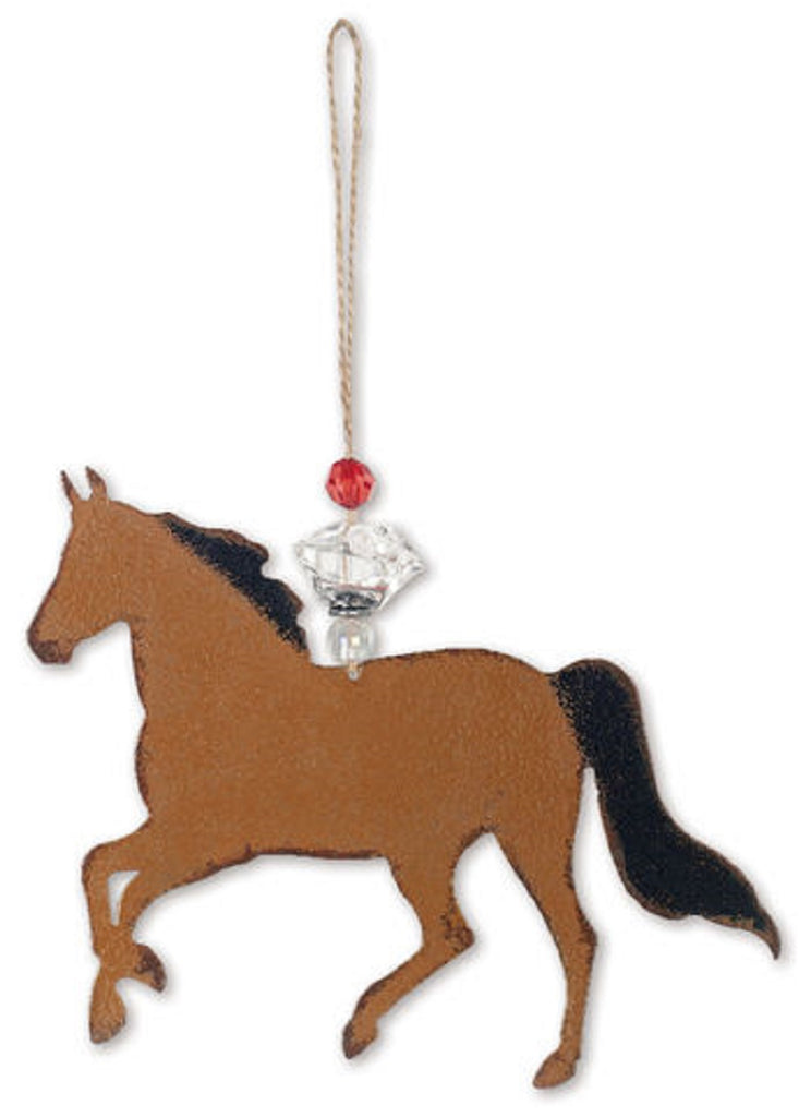 Bay Brown Horse Ornament or Wall Hanging
