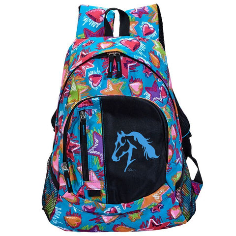 "Stars & Heart Backpack with ""Lila"" Horse Head"