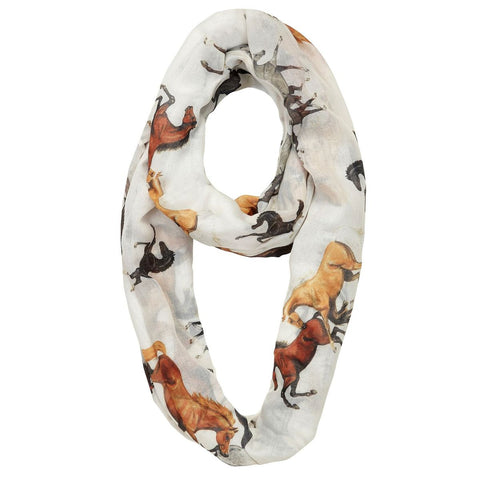 Horses All Over Lila Infinity Scarf