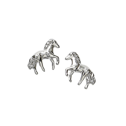 Sterling Silver Mini Horse Post Earrings