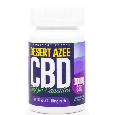 Desert AZEE CBD Gel Caps Full Spectrum 10mg
