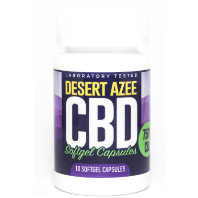 Desert AZEE CBD Gel Caps Isolate 75mg