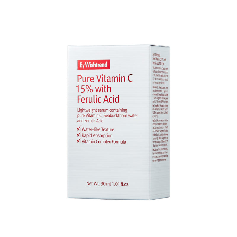 By Wishtrend Pure Vitamin C 15% with Ferulic Acid 30ml box