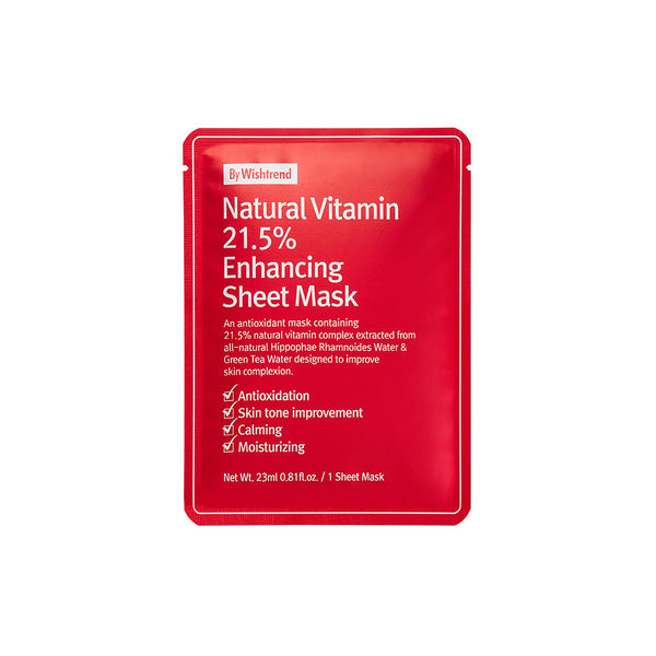 By Wishtrend Natural Vitamin 21.5% Enhancing Sheet Mask 23ml
