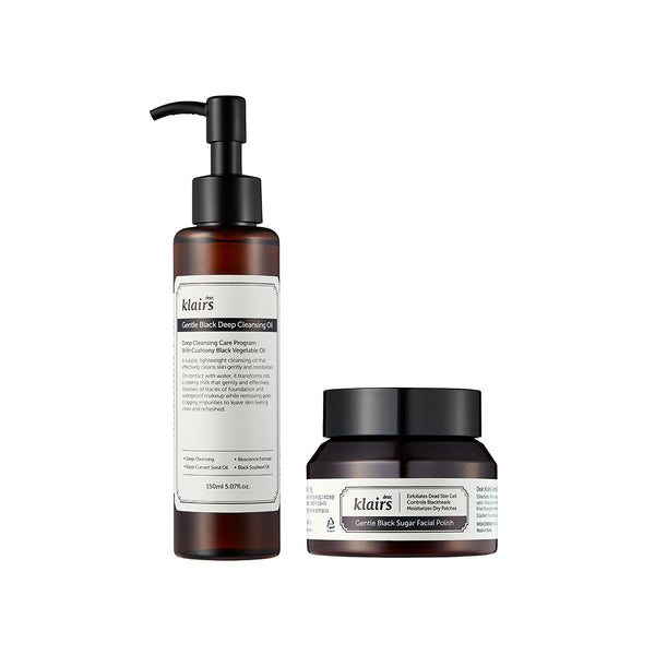Dear Klairs Gentle Black Cleanser & Exfoliator Duo (WORTH £42)