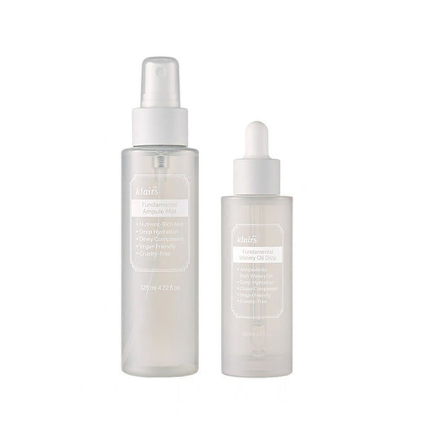 Dear Klairs Fundamental Duo: Ampoule Mist and Oil Drop (WORTH £56)