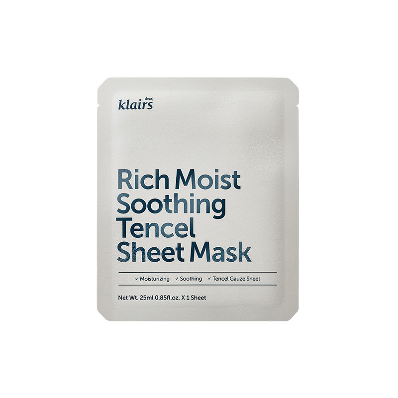 Dear Klairs Rich Moist Soothing Tencel Sheet Mask 25ml