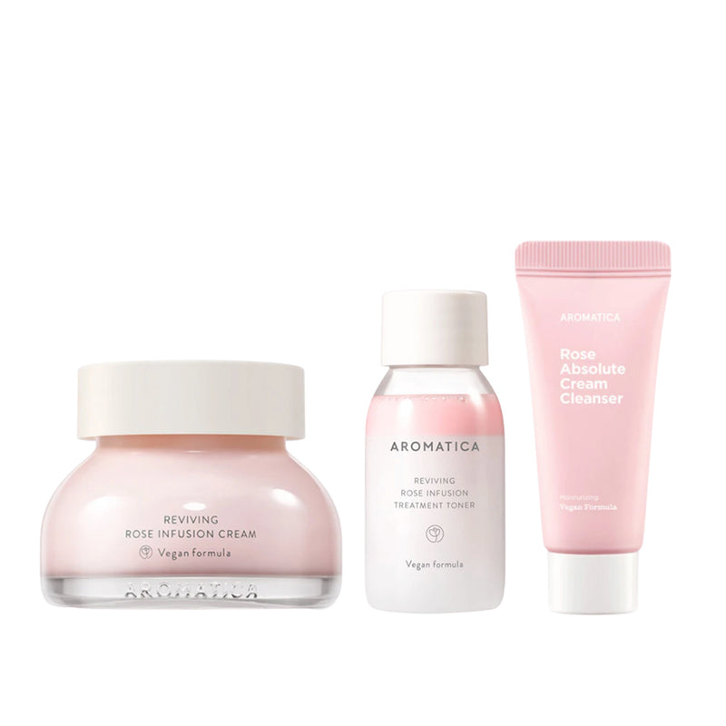 Aromatica Rose Trial Routine Set