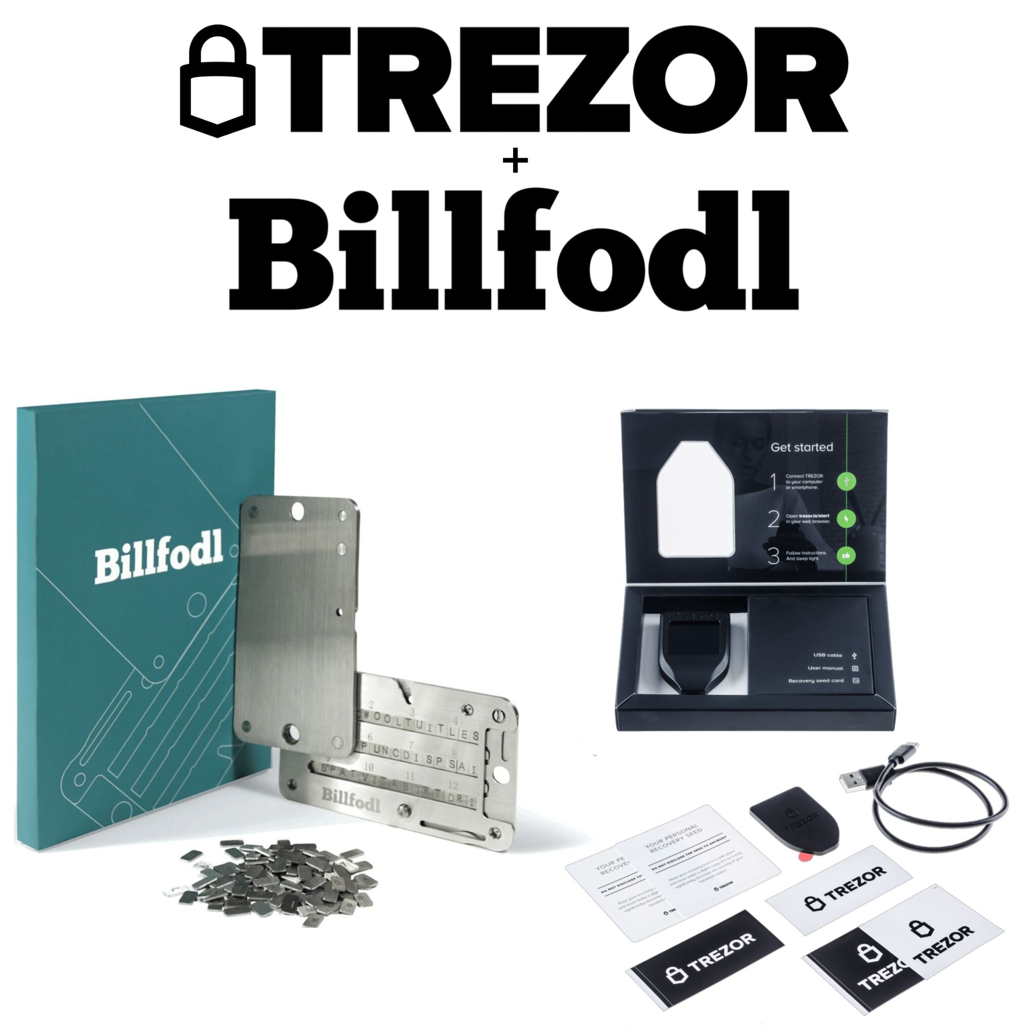 Trezor Model T + Billfodl