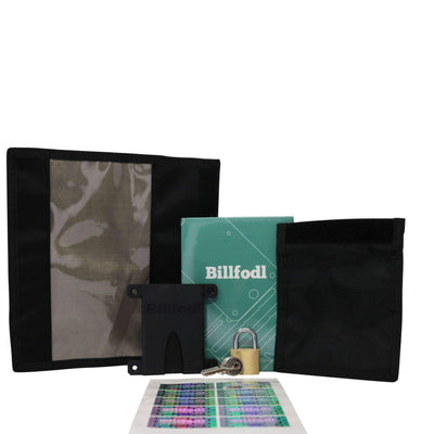 Billfodl - 'Keep It Secret' Bundle (1 Billfodl, 1 Small Faraday Bag, 1 Large Faraday Bag, 1 Fodl Hodler, 1 Lock, 1 Sticker Set)