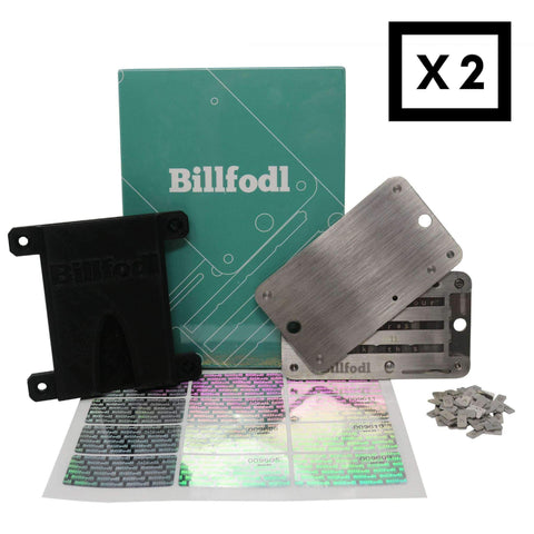 Billfodl - The Paranoia Bundle (2 Billfodls, 2 Sticker Sheets, 2 Fodl Hodlers)