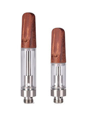 FLAT WOODEN MOUTHPIECE 0.5ml/1.0ml GLASS CARTRIDGE [5000 QTY]