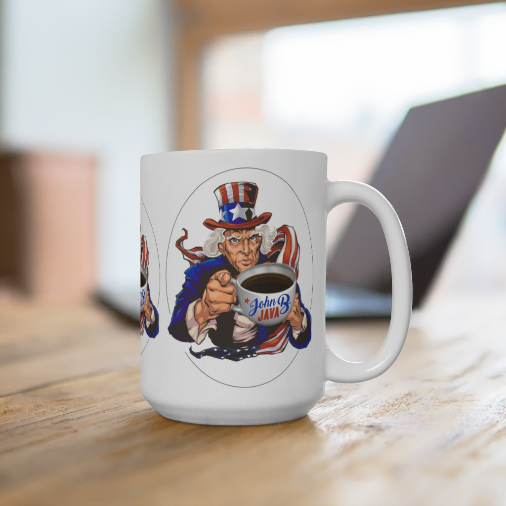 John B Java Coffee Mug 15oz